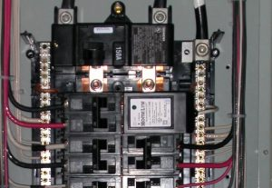 electrical panel with surge protector